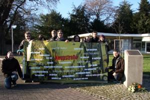 "Delegierte des Aktionsbündnisses ""NSU-Komplex auflösen"", Halitplatz, Kassel"